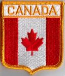 Canada Embroidered Flag Patch, style 06.